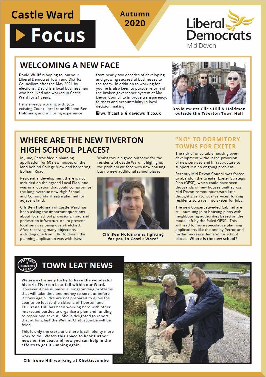 Castle Ward Focus, Autumn 2020, Page 1