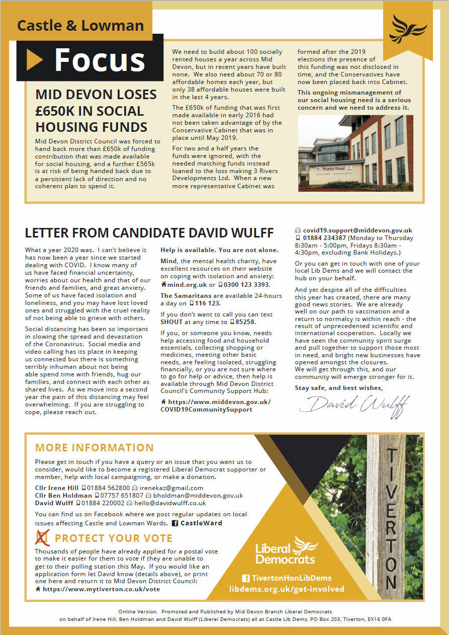 Castle Ward Focus, Spring 2021, Page 2
