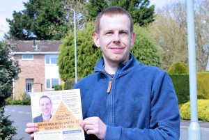 David Wulff with leaflet