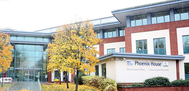 Phoenix House, MDDC offices and Tiverton Library